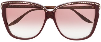 Gucci Crystal And Stud-Embellished Square-Frame Sunglasses