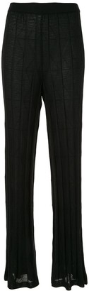 M Missoni Knitted Straight-Leg Trousers