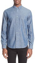 Paul Smith Men's Trim Fit Cotton & Linen Sport Shirt