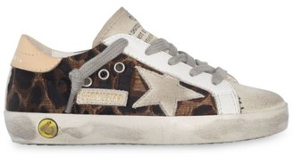 Golden Goose Baby's, Little Girl's & Girl's Leather Leopard-Print Superstar Sneakers