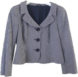 Hobbs Blue Cotton Jacket for Women