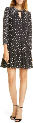 Rebecca Taylor Twist Keyhole Silk Blend Dress