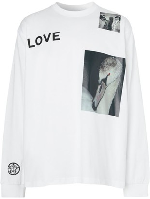 Burberry Love Graphic Long-Sleeve Cotton T-Shirt