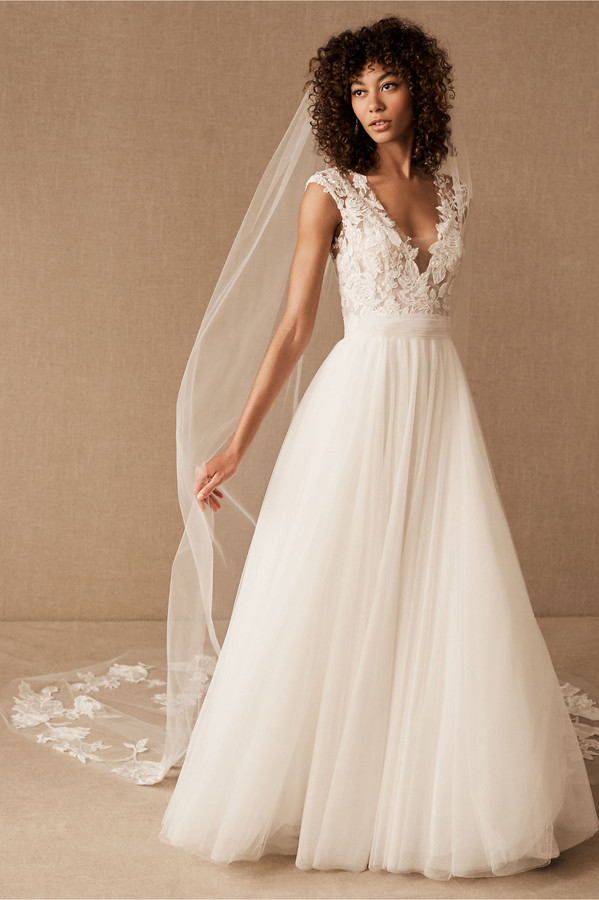 Thumbnail for your product : Amsale Danielle Cathedral Veil