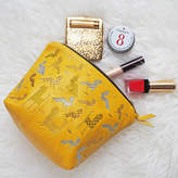 paperCutts designs Animal Embroidered Lambs Leather Zipped Make Up Bag
