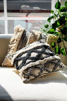 Urban Outfitters Boho Patterned Cushion - Black ALL at