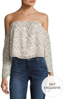 Lucca Couture Floral Print Off Shoulder Crop Top