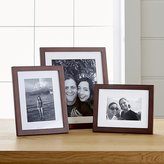 Crate & Barrel Matte Brown Picture Frames