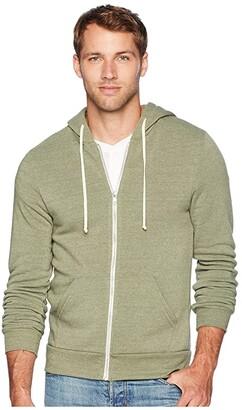 Alternative Rocky Eco-Fleece Zip Hoodie (Eco True Army Green) Men's Sweatshirt