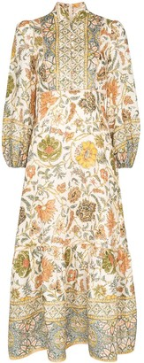 Zimmermann paisely-print cotton midi dress
