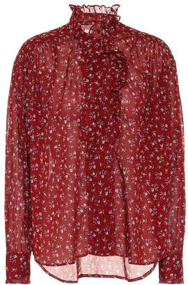 Etoile Isabel Marant Pamias floral cotton voile blouse
