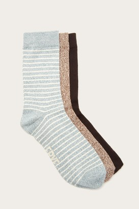 The Frye Company 3 Pack Stripe Supersoft Crew Sock - Women