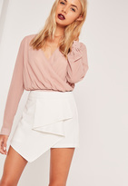 Missguided Origami Front Skorts White