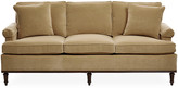 Michael Thomas Collection Garbo Sofa - Cafe Velvet - frame, mahogany; upholstery, cafe tan