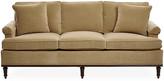 Michael Thomas Collection Garbo Sofa - Cafe Velvet - frame, mahogany; upholstery, cafe tan