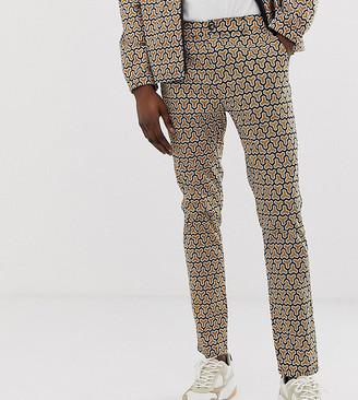 ASOS DESIGN Tall skinny cropped pants in geo print
