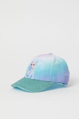 H&M Printed glitter-peaked cap