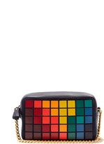 Anya Hindmarch Pixels leather and suede cross-body bag