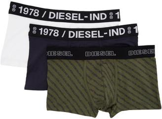 Diesel Three-Pack Multicolor UMBM Damien Boxer Briefs