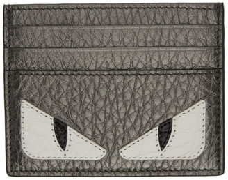 Fendi Grey Bag Bugs Card Holder