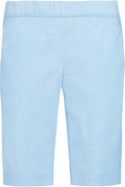 Theory Thanella stretch linen-blend shorts