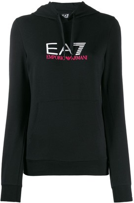 Emporio Armani Ea7 logo printed hoodie