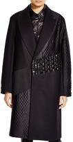 DKNY Embellished Mixed Media Patchwork Coat - 100% Bloomingdale's Exclusive