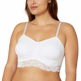 Ahh By Rhonda Shear Women's Seamless Lace Bra with Removable Straps