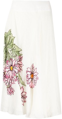 A.N.G.E.L.O. Vintage Cult 1990s Floral Print Mid-Length Skirt