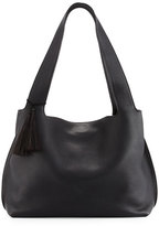 The Row Duplex Calfskin Hobo Bag, Black