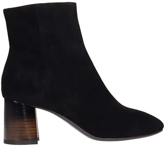 Lola Cruz Belinda Black Suede Ankle Boots