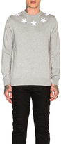 Givenchy Star Collar Crew Neck Jumper in Gray.