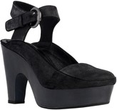 Max Studio Winny - Waxed Suede Buckled Platforms