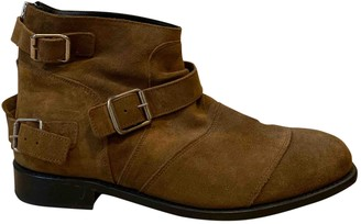 Balmain For H&m Camel Suede Boots