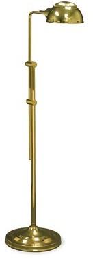 """Pharmacy 57"""" Task Floor Lamp Lighting Enterprises Finish: Polished Brass"""