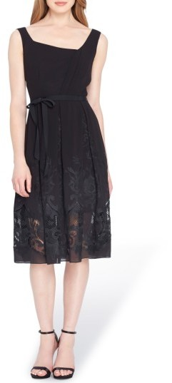 Tahari Women's Lace Fit & Flare Dress