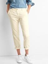 Gap Linen-cotton garment-dye slim fit girlfriend chinos