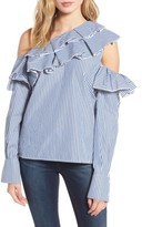 Leith Women's Ruffle One-Shoulder Blouse