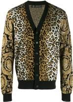 Versace leopard intarsia cardigan