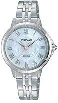 Pulsar Women's 'Ladies Dress Solar' Quartz Stainless Steel Dress Watch (Model: PY5005)