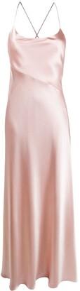 Galvan Serena satin maxi dress