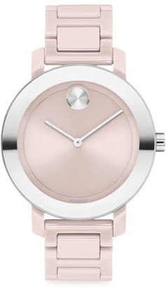 Movado Bold Evolution Ceramic & Stainless Steel Bracelet Watch