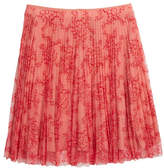 Burberry Wilton Pleated Lace Skirt, Size 6-14