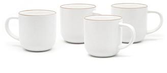 Salt & Pepper Hana 4 Piece Stoneware Mug Set 380ml White