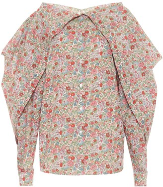 Y/Project Floral cotton blouse