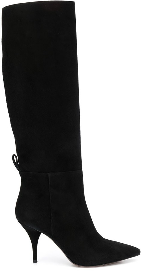 L'Autre Chose knee high pull-on boots
