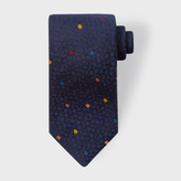 Paul Smith Men's Navy Floral Jacquard Silk Tie