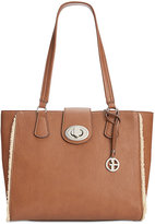 Giani Bernini Faux-Shearling-Trim Tote, Only at Macy's
