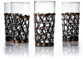 Salt&Pepper Set of 4 Woven Wicker Covered Highball Glasses