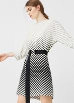 MANGO Belt Striped Dress